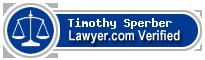 Timothy Paul Sperber  Lawyer Badge