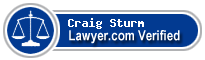 Craig M. Sturm  Lawyer Badge