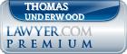 Thomas Carroll Underwood  Lawyer Badge