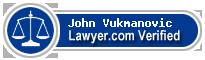 John Vukmanovic  Lawyer Badge