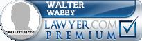 Walter J. Wabby  Lawyer Badge