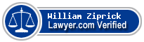 William Frederick Ziprick  Lawyer Badge