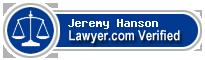 Jeremy Keith Hanson  Lawyer Badge