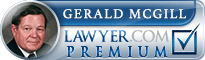 Gerald A McGill  Lawyer Badge