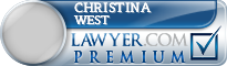 Christina Diane West  Lawyer Badge