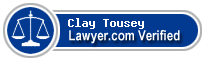 Clay B Tousey  Lawyer Badge