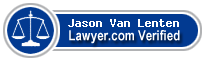 Jason Paul Van Lenten  Lawyer Badge