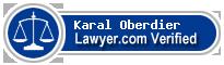 Karal B Oberdier  Lawyer Badge