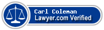 Carl Randolph Coleman  Lawyer Badge