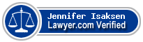 Jennifer Isaksen  Lawyer Badge