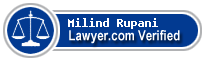 Milind Bharat Rupani  Lawyer Badge