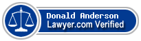 Donald Axel Anderson  Lawyer Badge
