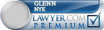 Glenn Lee Nye  Lawyer Badge