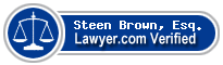 Steen James Brown, Esq.  Lawyer Badge