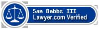 Sam Babbs III  Lawyer Badge
