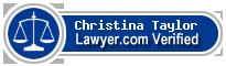 Christina Yachiyo Taylor  Lawyer Badge