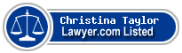 Christina Taylor Lawyer Badge