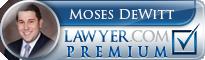Moses Robert DeWitt  Lawyer Badge