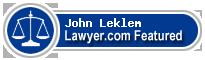 John Arthur Leklem  Lawyer Badge