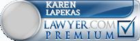 Karen J Lapekas  Lawyer Badge