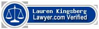 Lauren J Kingsberg  Lawyer Badge