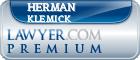Herman Montell Klemick  Lawyer Badge