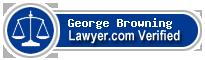 George Browning  Lawyer Badge