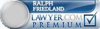Ralph Lee Friedland  Lawyer Badge