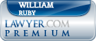 William H Ruby  Lawyer Badge