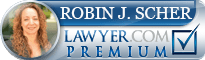 Robin J Scher  Lawyer Badge