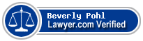 Beverly A Pohl  Lawyer Badge