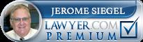 Jerome Richard Siegel  Lawyer Badge