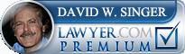 David W. Singer  Lawyer Badge