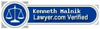 Kenneth Michael Malnik  Lawyer Badge