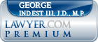 George F. Indest III, J.D., M.P.  Lawyer Badge
