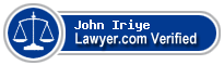 John M. Iriye  Lawyer Badge