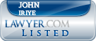 John Iriye Lawyer Badge