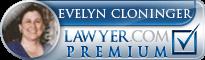 Evelyn Watts Cloninger  Lawyer Badge
