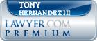 Tony Hernandez III  Lawyer Badge