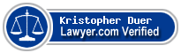 Kristopher Carl Duer  Lawyer Badge