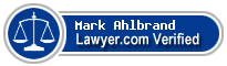 Mark William Ahlbrand  Lawyer Badge