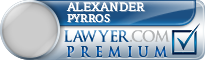 Alexander Pyrros  Lawyer Badge