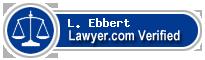 L. Eric Ebbert  Lawyer Badge