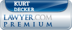 Kurt Edward Decker  Lawyer Badge