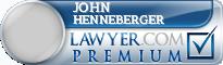 John A. Henneberger  Lawyer Badge