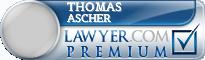 Thomas Robert Ascher  Lawyer Badge