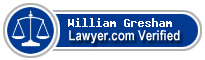 William Bacon Gresham  Lawyer Badge