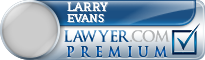 Larry Hancock Evans  Lawyer Badge