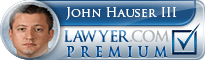 John M Hauser  Lawyer Badge