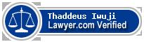 Thaddeus Iwuji  Lawyer Badge